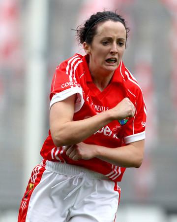 Geraldine OÕFlynn celebrates after kicking the winning point