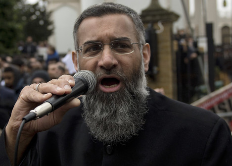 Protest outside London Mosque