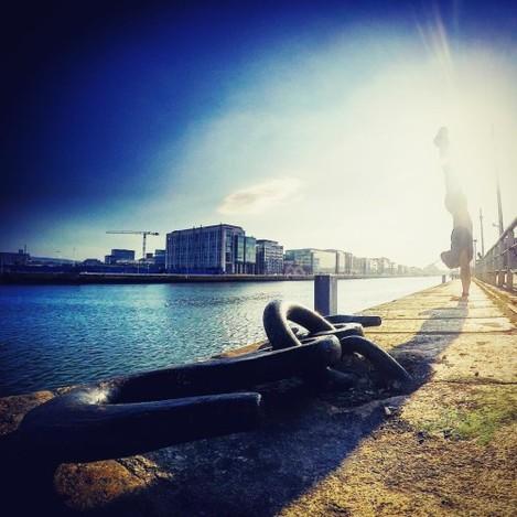 Remi on Instagram: ☀️One last handstand in Dublin ✋⚓️✋ #1989 #1989tourdublin #GoPro @gopro #tempestfreerunning #dublin