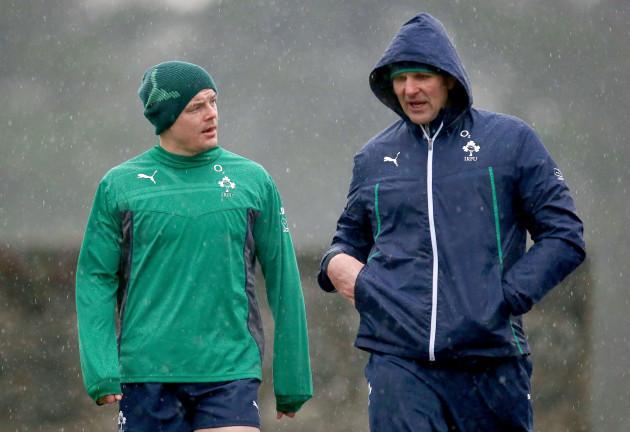 Brian O'Driscoll and John Plumtree