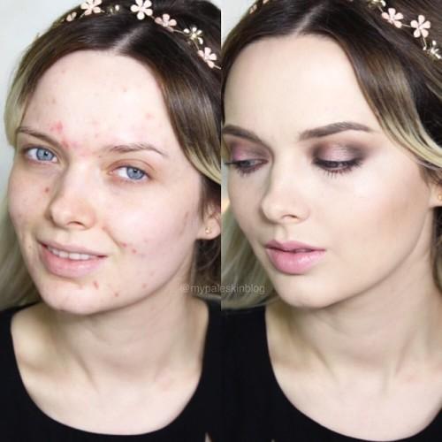 Fun and flirty summer makeup! #beforeandafter