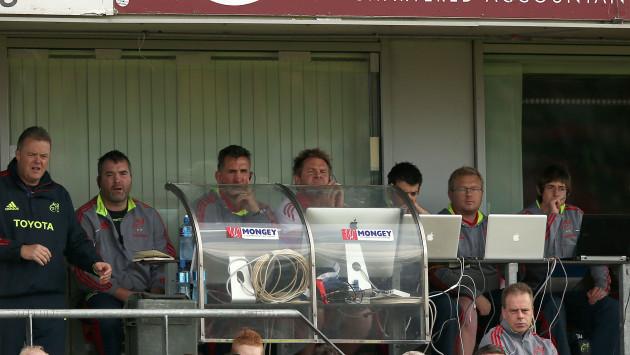 Munster's backroom team