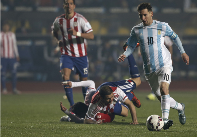 Chile Soccer Copa America Argentina Paraguay