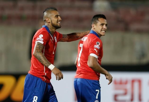 Chile Soccer Copa America Chile Ecuador
