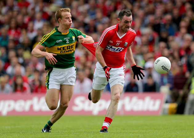 Donncha O'Connor scores their second goal of the game despite Fionn Fizgerald