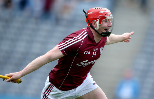 Joe Canning celebrates his goal