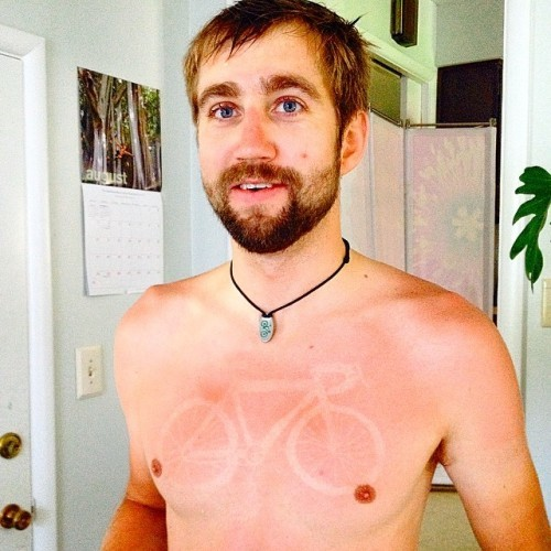 #sunburn #sunburntattoo #tourdefat #wearsunscreen #loves_bikes #boise #idaho