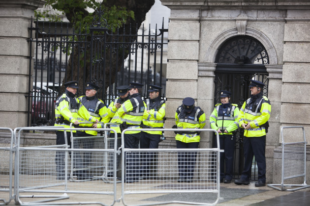 7/7/2015 Garda - Leinster House. Pictured is a hea