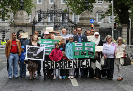 7/7/2015 Remembering Srebrenica. Pictured a group