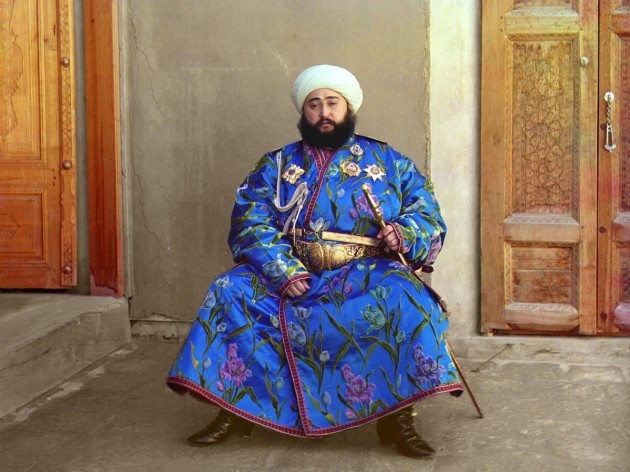 prokudin-gorskii-took-this-photograph-of-emir-said-mir-mohammed-alim-khan-the-last-emir-representative-to-rule-the-emirate-of-bukhara-in-central-asia-in-1911