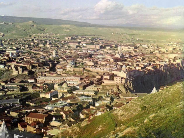 here-we-get-an-early-20th-century-view-of-tbilisi-the-capital-of-georgia-which-was-previously-known-as-tiflis-in-russian-located-on-a-plain-formed-by-the-kura-river-the-city-was-annexed-to-the-russi