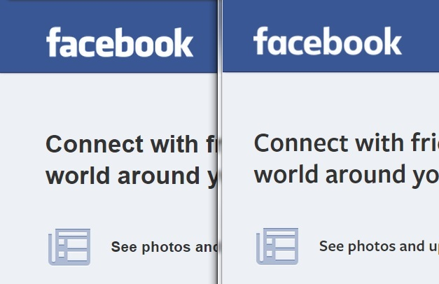 FB logo before and after