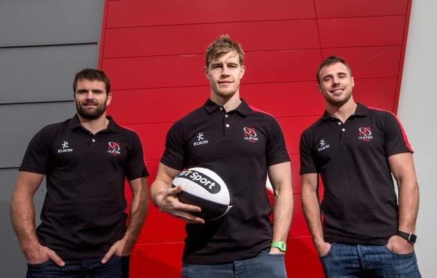 Jared Payne, Andrew Trimble and Tommy Bowe