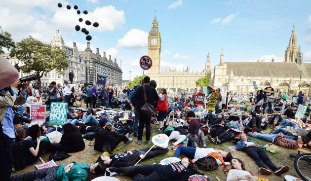 Budget day anti-austerity march