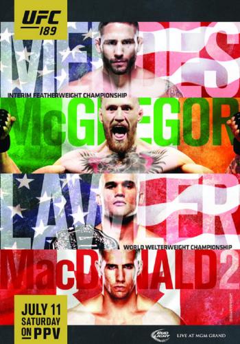UFC 189 poster