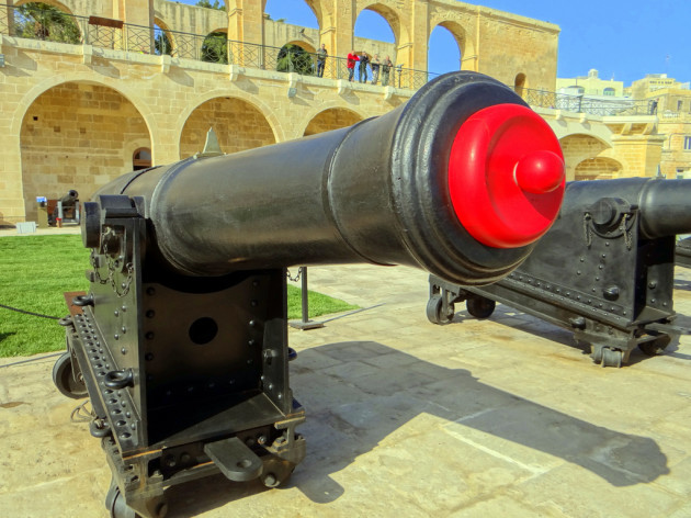 Front view Gun, Cannon Saluting battery- Malta