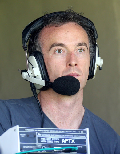 Anthony Moyles in the commentary box