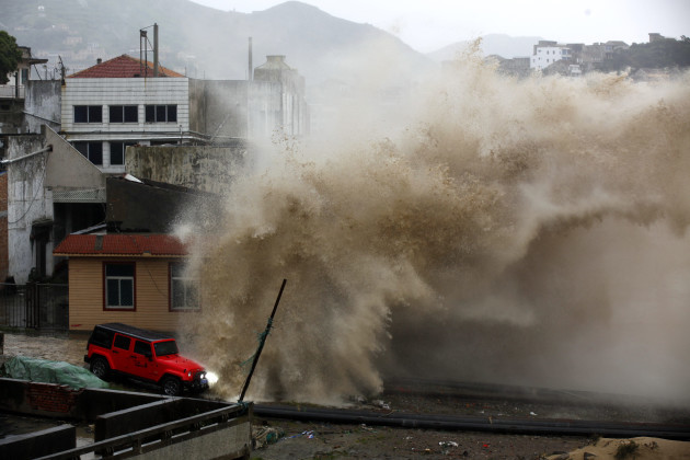China Asia Storms
