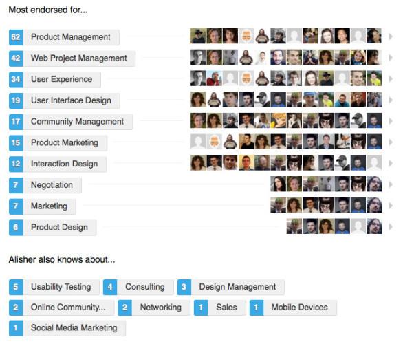 Linkedin profile skills set