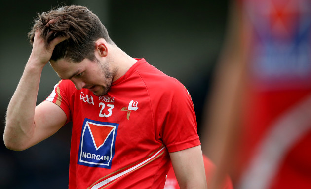 Eoin OÕConnor dejected after the game