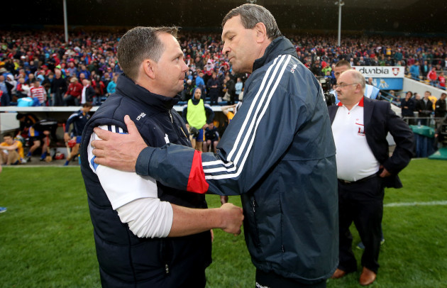 Davy Fitzgerald and Jimmy Barry Murphy after the game