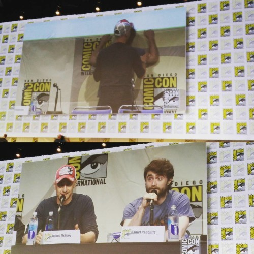 James McAvoy and Daniel Radcliffe made the Victor Frankenstein panel very homoerotic. #sdcc
