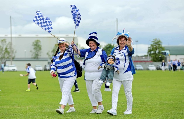 Waterford fans Shelley, Aoife and Bridget Phelan make their way into Semple Stadium