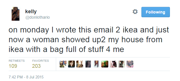 An Irish girl wrote IKEA this perfect email about a