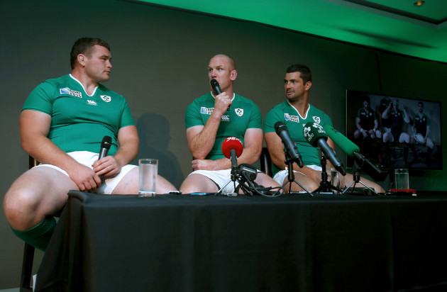 Jack McGrath, Paul O'Connell and Rob Kearney
