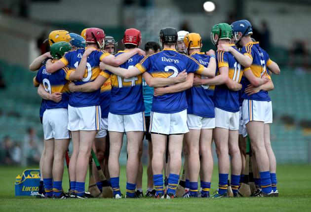 Tipperary team huddle