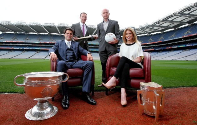 Rachel Wyse and Brian Carney with Jamesie O'Connor and Peter Canavan