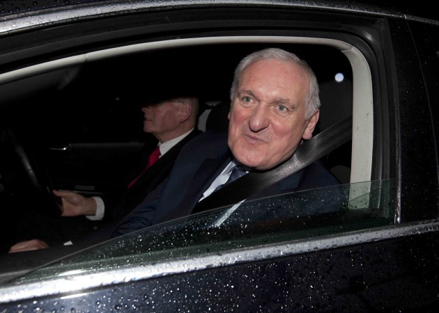 16/7/2015. Bertie Ahern leavess Banking Inquiry to