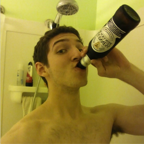 Guinness Black Lager is very nice after work