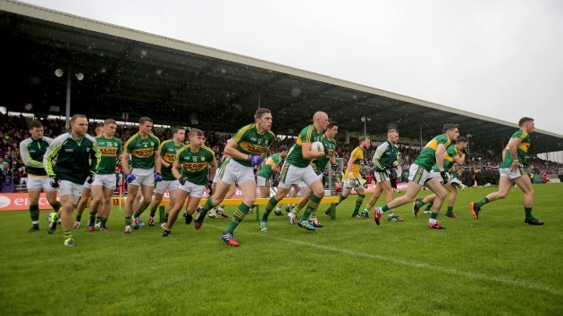 The Kerry team break from the team photo