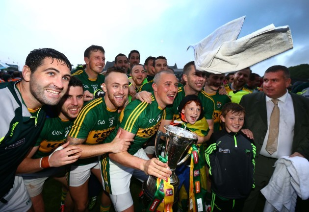 Kieran Donaghy and the Kerry players celebrate