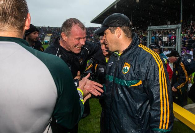 Diarmuid Murphy and Eamonn Fitzmaurice celebrate