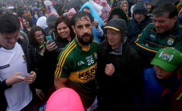 Paul Galvin at the end of the game