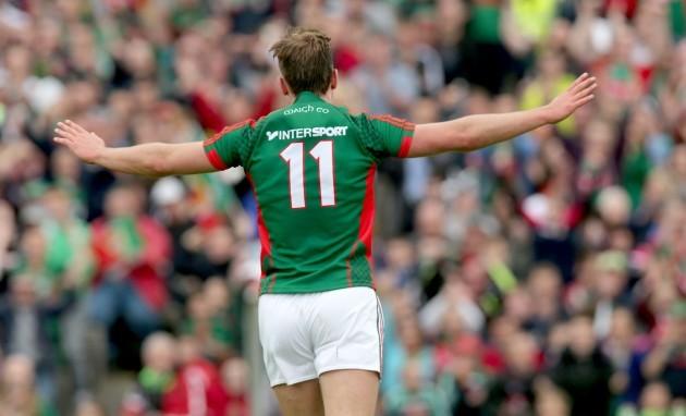 Aidan O'Shea celebrates scoring his sides third goal