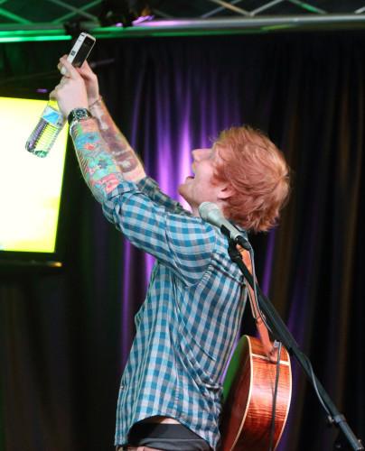 Ed Sheeran visits Q102 - Philadelphia