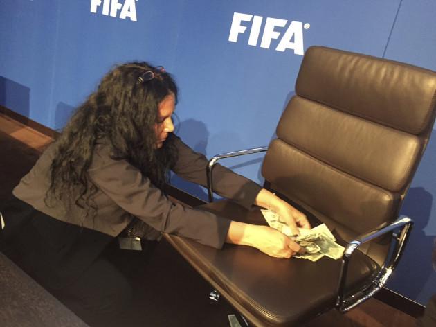 Switzerland Soccer FIFA Blatter Protest