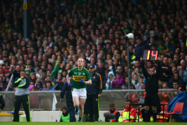 Colm Cooper comes on for Kieran Donaghy