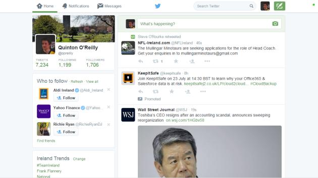 Twitter white background