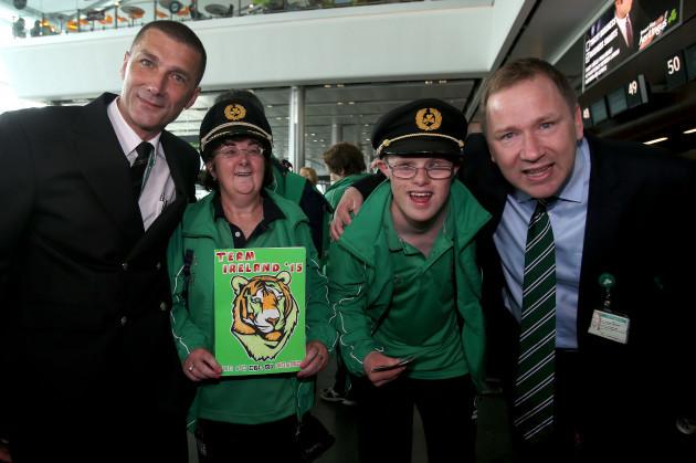 Captain Padraic Maye, Ann Hoey, Ian Stauntonand Stephen Kavanagh