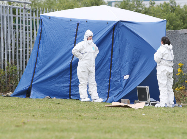 21/7/2015 Forensic Teams check where a body was fo