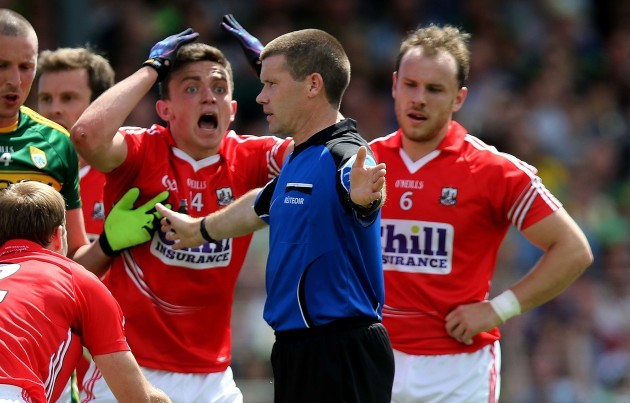 Mark Collins of Cork reacts
