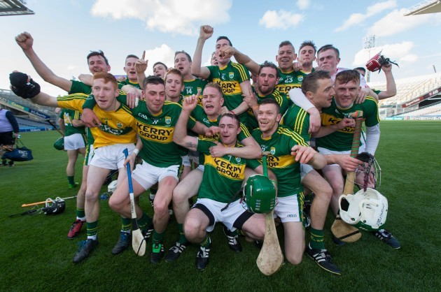 Kerry players celebrate after the game