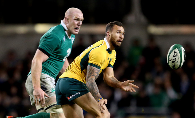 Paul O'Connell and Quade Cooper