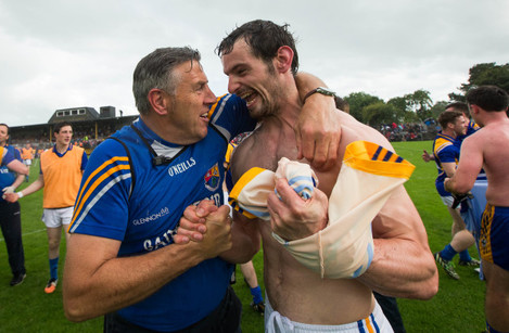 Jack Sheedy celebrates with Barry Gilleran