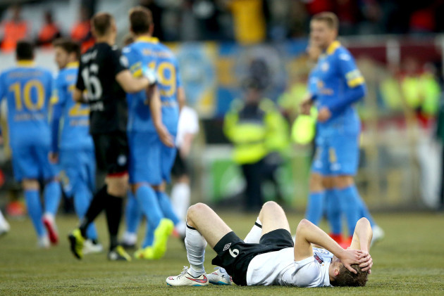 David McMillan dejected after the game
