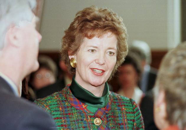 Irish president Mary Robinson Leeds